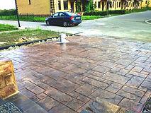 Печатный бетоный пол цена за м2
