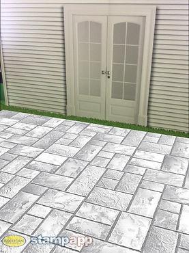 Печатный бетон 1200 руб за м2
