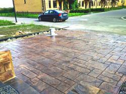 Парковка из печатного бетона Домодедово М.О.