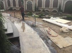 Печатный бетон дорожка