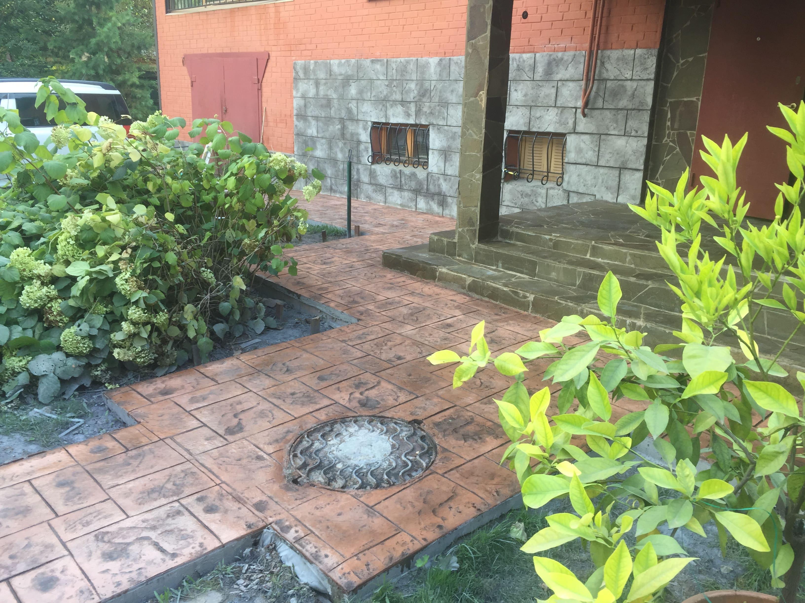 Печатный бетон в частном доме М.О