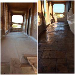 Балконная зона  печатный бетон плитнякИстра М.О.