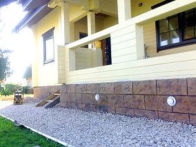 Декоративая шткатурка печатный бетон | Цоколь из печатного бетона