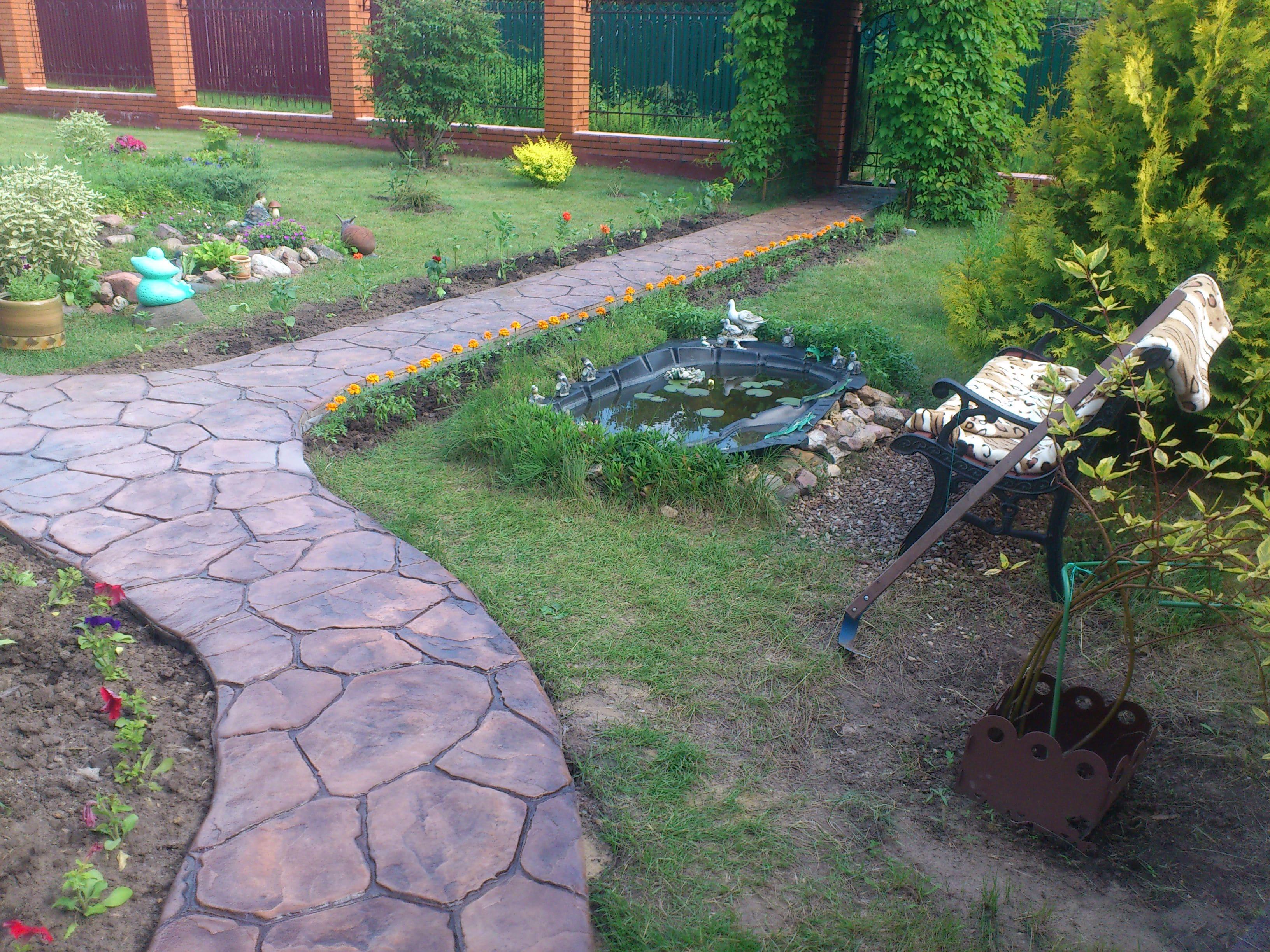 Ралиальный тротуар на садовом участке г.Ступино М.О.