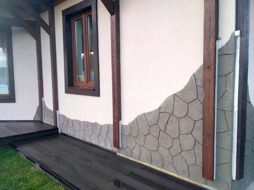 Штукатурка Флекс цемент иммитация натуральный камень дешево в Москве