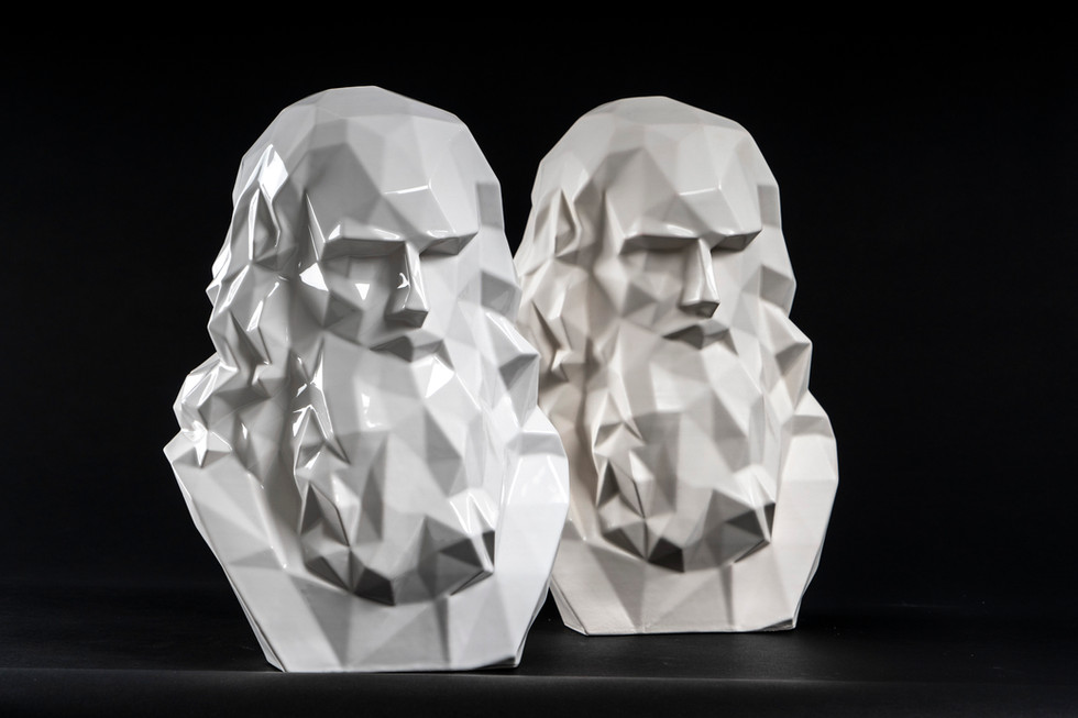 LEONARDO DA VINCI 3D BUST SCULPTURE CREA