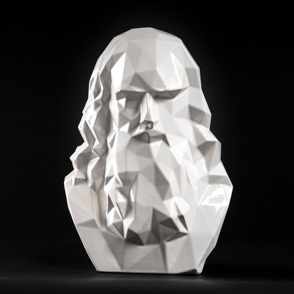 Leonardo da Vinci bust white