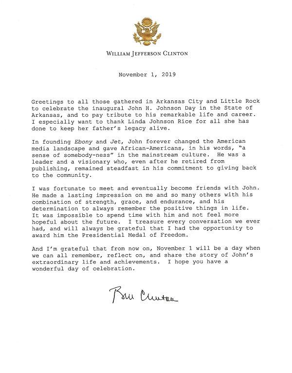 President Clinton Letter.jpg