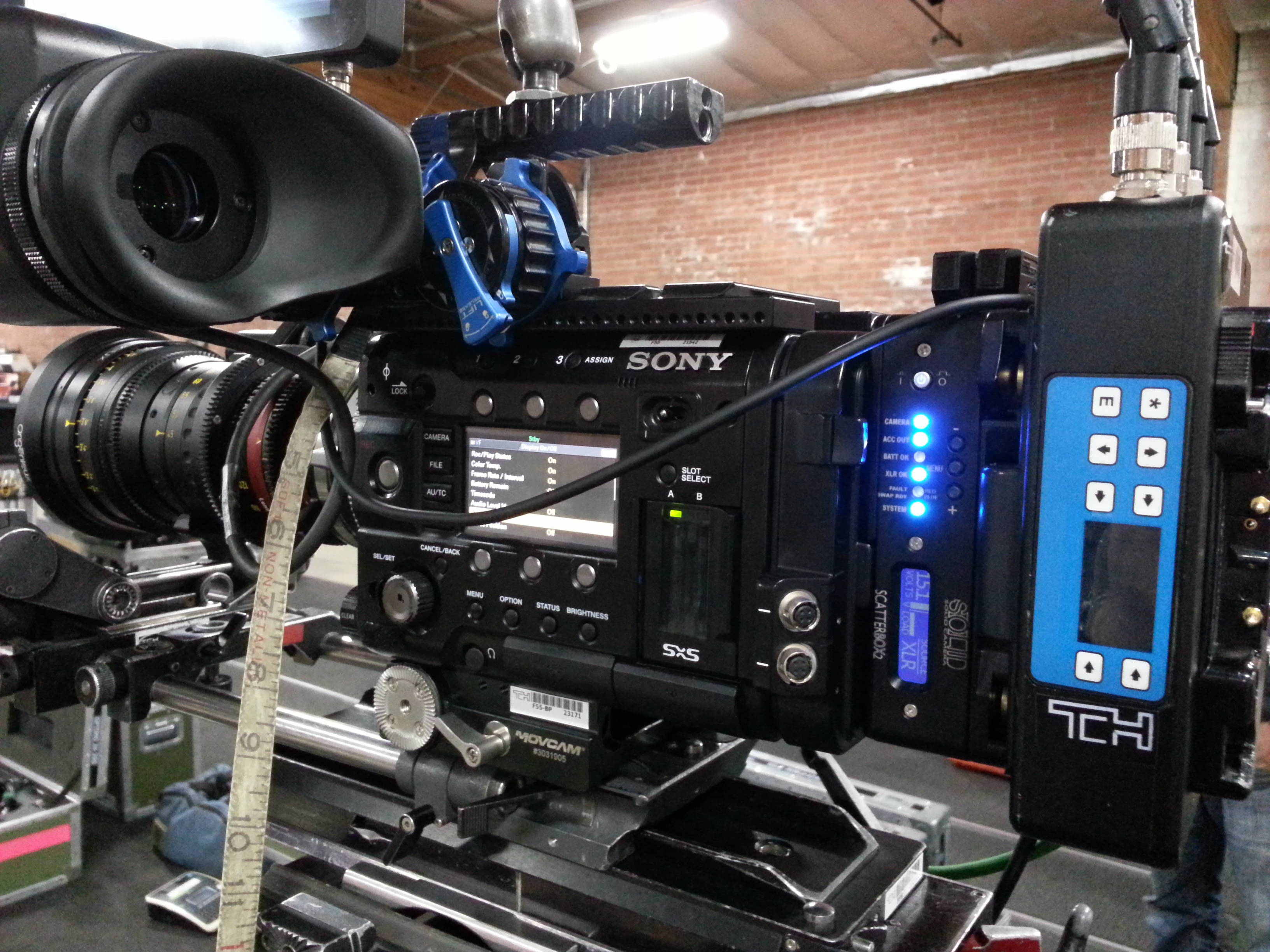 Sony F55 on a TV Series