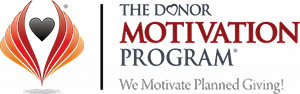 The Donor Motivation Program logo, We motivate Planned Giving