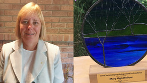 Mary Goodfellow, recipient of Lorna Somers Legacy Giving Award of Excellence 2020