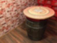 Geknutselde connectortafel  (uit Escape Room Belgische Bieren bij Locked, Wilsele)