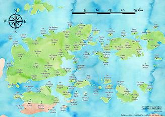 Voorbeeld van kaart (uit Escape Room Flight 923)