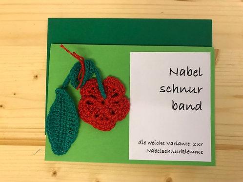 Nabelschnurband Blume ganz rot mit Karte