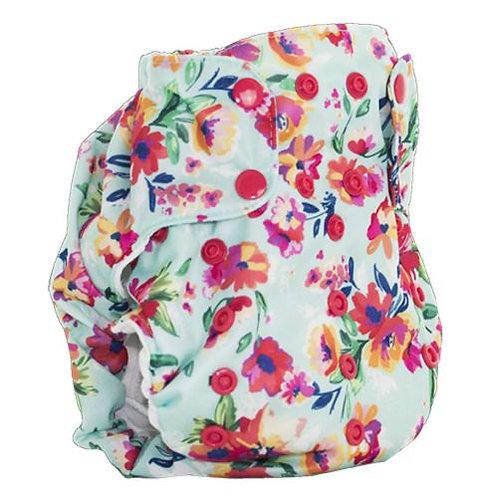Smart Bottoms Dream Diaper 2.0 Aqua floral