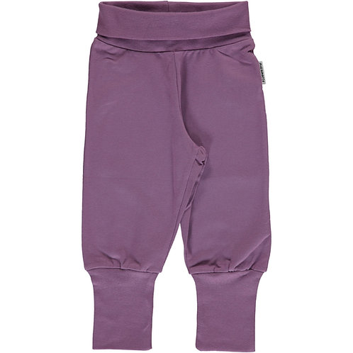 Maxomorra Pants Rib dusty purple