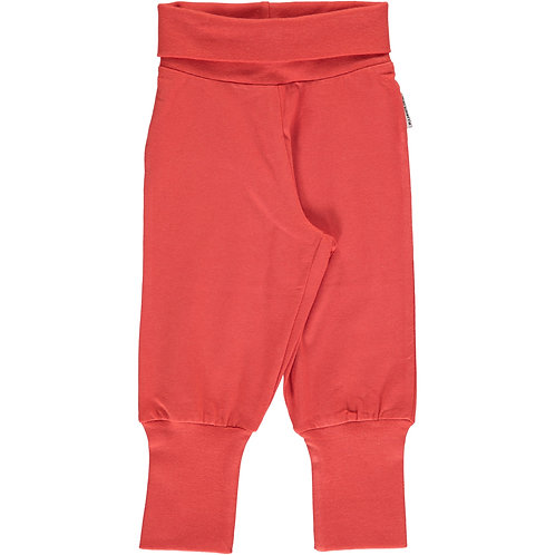 Maxomorra Pants Rib rusty red