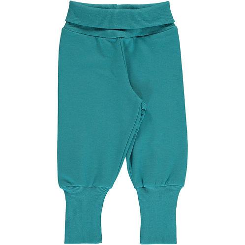 Maxomorra Pants Rib Sweat Arctic blue