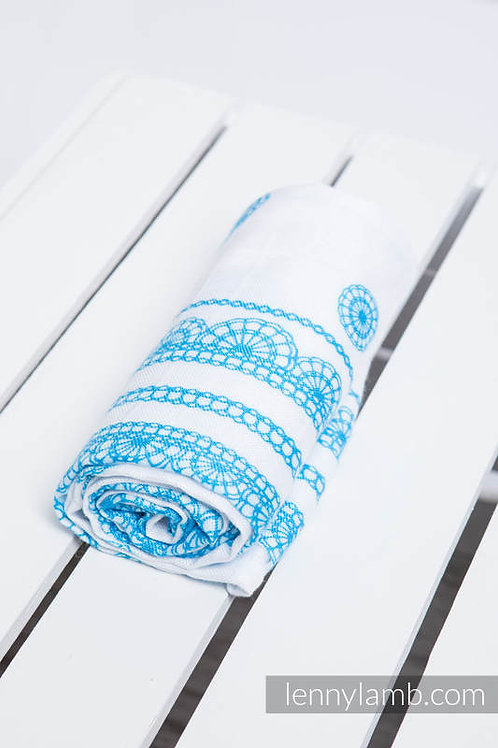 LennyLamb Swaddle (120x120) Iced Lace blue