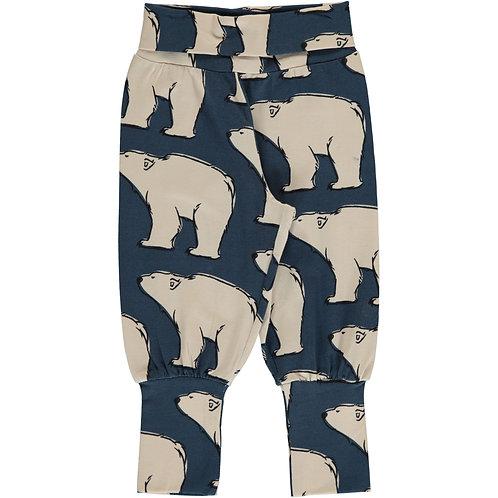 Maxomorra Pants Rib Polar Bear
