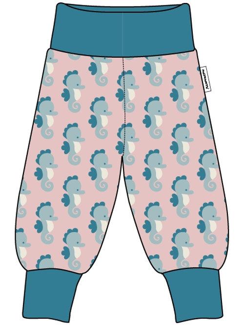 Maxomorra Pants Rib Seahorse