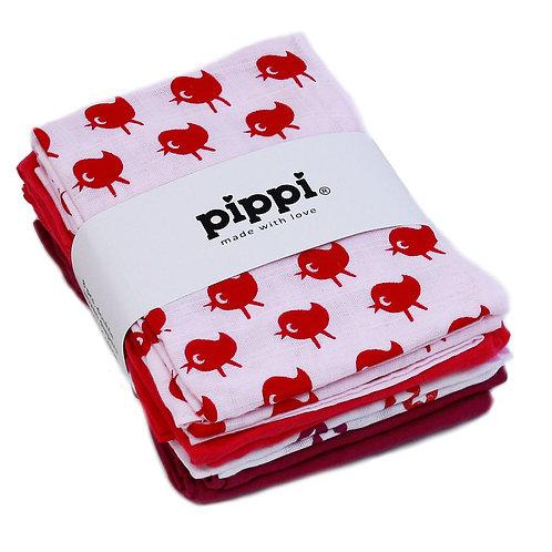 Pippi Mullwindeln (70x70) 8 Stück rosa