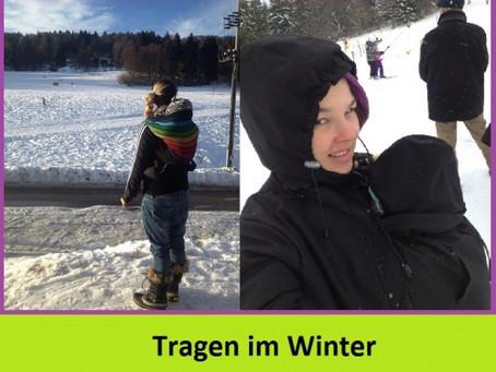 Tragen von Babys und Kleinkindern im Winter