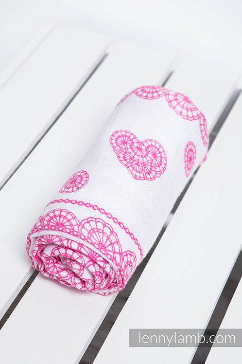 LennyLamb Swaddle (120x120) Iced Lace pink
