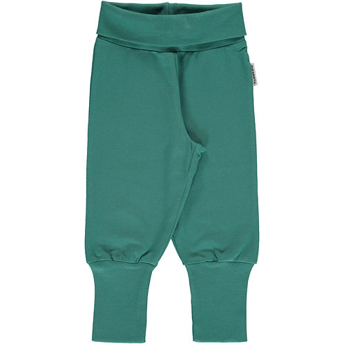 Maxomorra Pants Rib green petrol