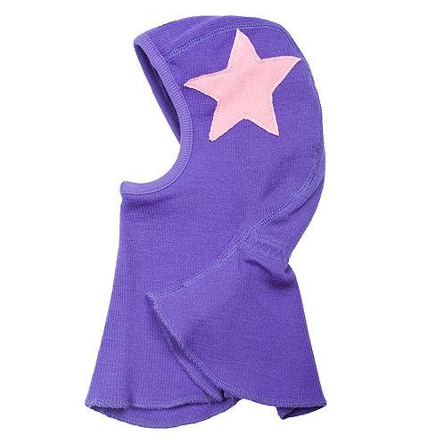 Manymonths Elefantenmütze Wolle purple star