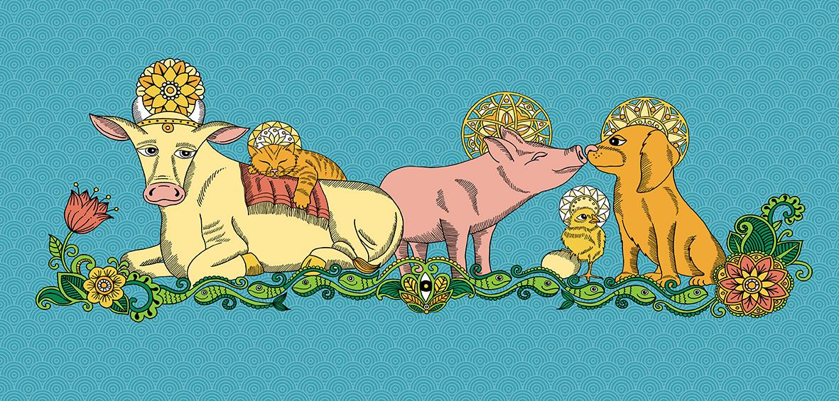 Percheros Animales sagrados