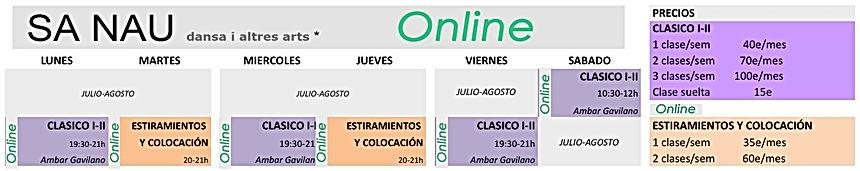 Clases online verano