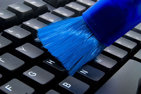 Keyboard Cleaner in blue color cleaning