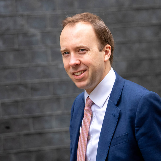 Matt Hancock, Health Secretary in Downing Street