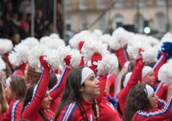 Cheer leaders, London New Year