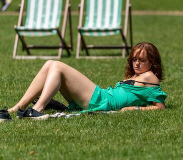 Enjoying the sunshine in St James Park