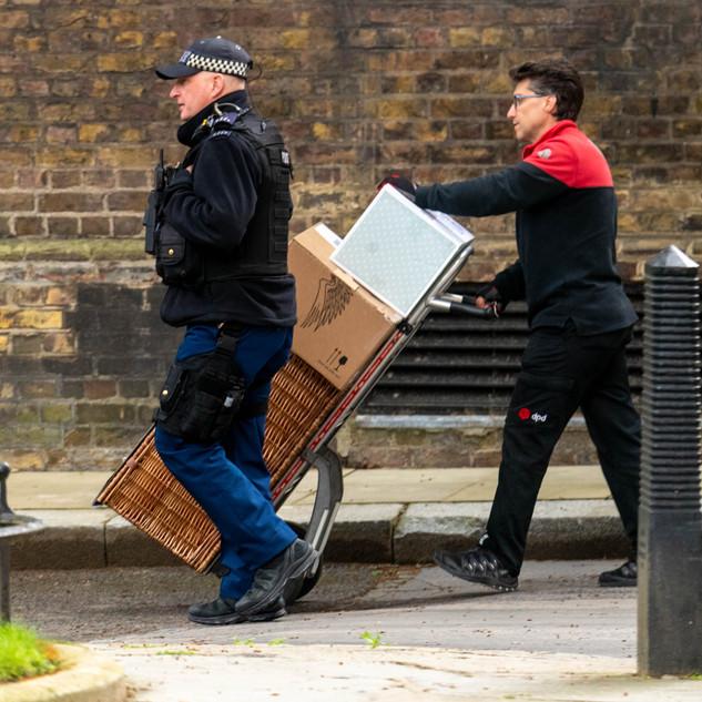 A hamper arrives for Boris Johnson's new baby