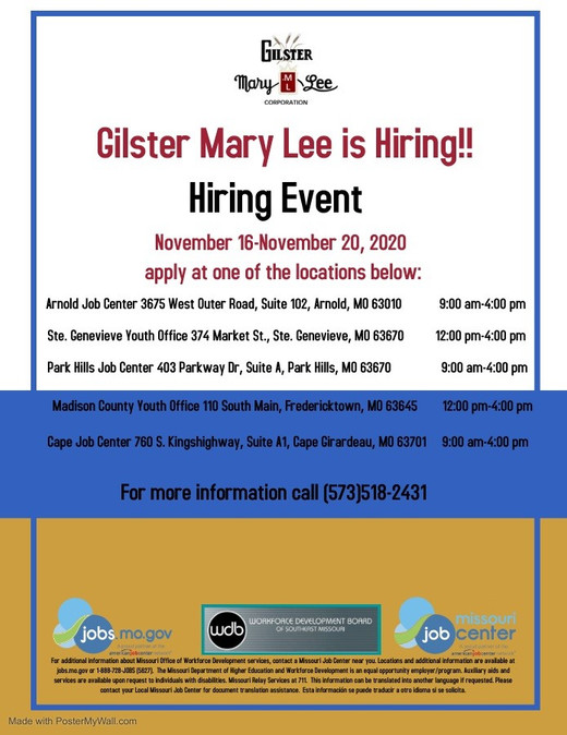 thumbnail_Gilster Hiring Event 11-16 to