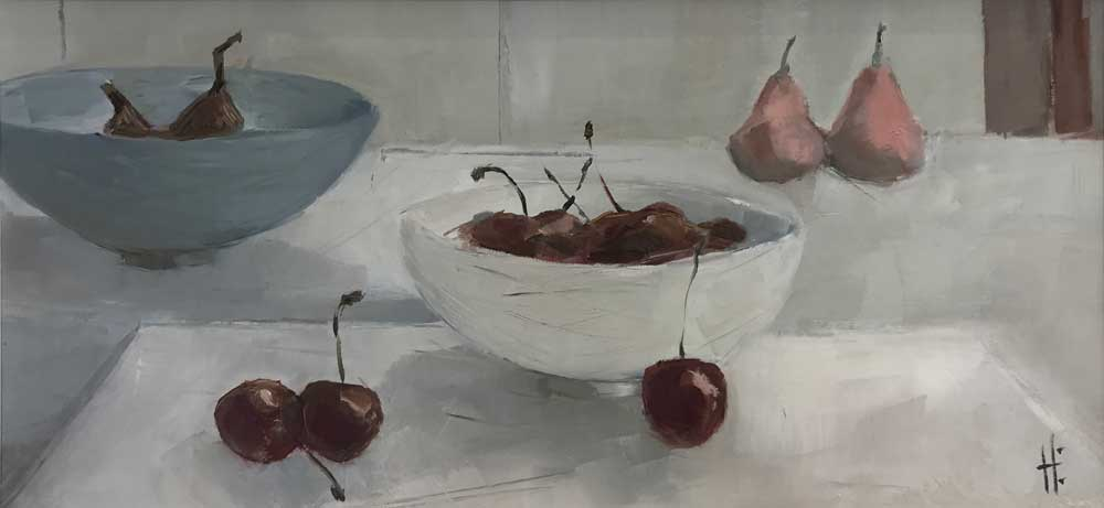 Two bowls and fruit