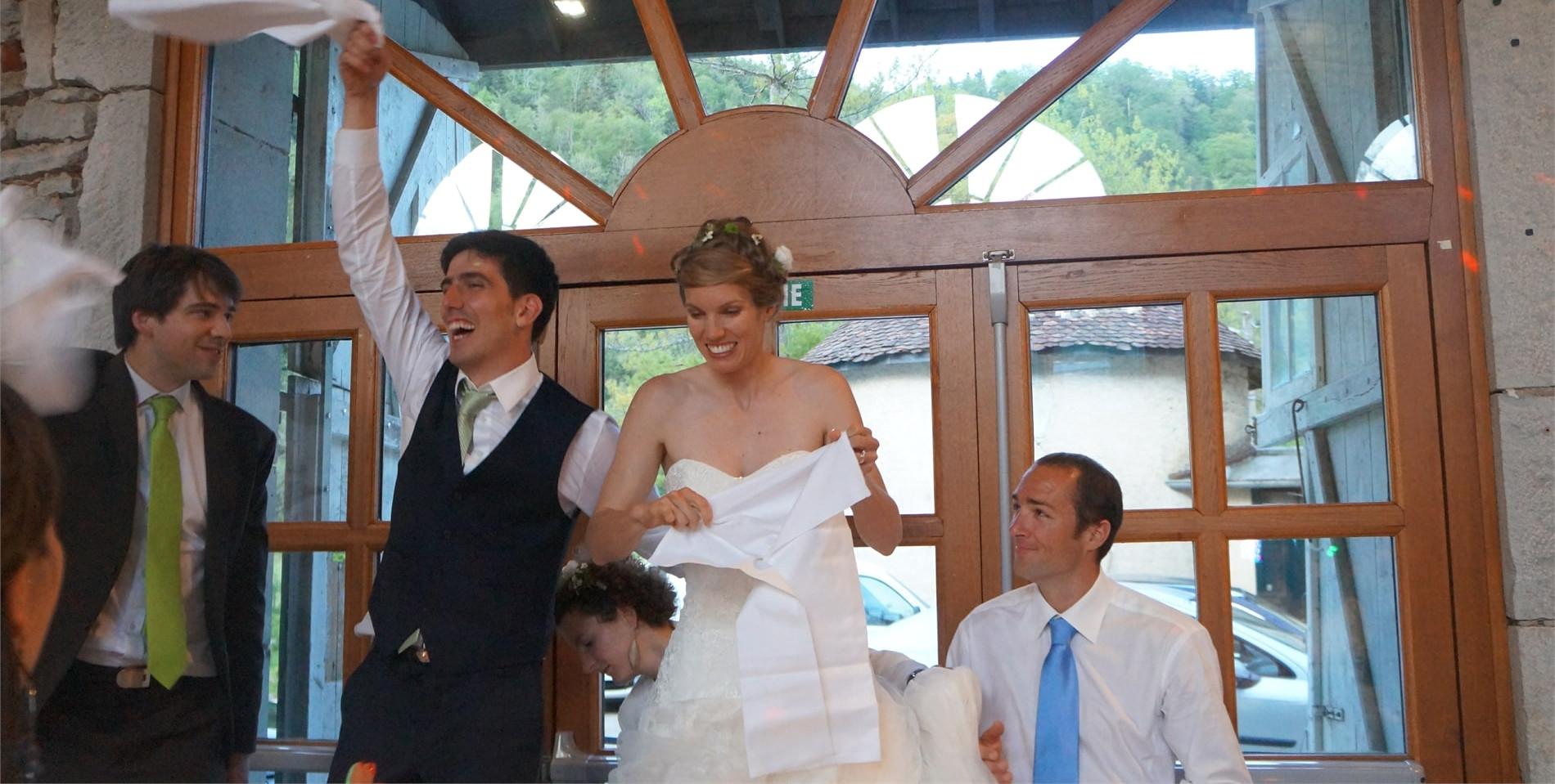 Entrée des Mariés dans la salle