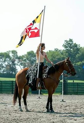 Rusted Star Ranch Manager representing the state of MD at a compeition