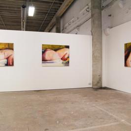 """Ella Ranfft. """"All the Venuses."""" 2018. Oil on MDF, x3: 1200 x 900 mm"""