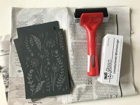 Linoprint materiaal