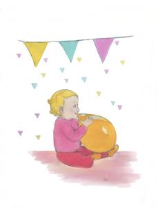 Illustratie Verjaardagskaart