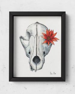 SkullFlower-8x10Framed-BlackFrame
