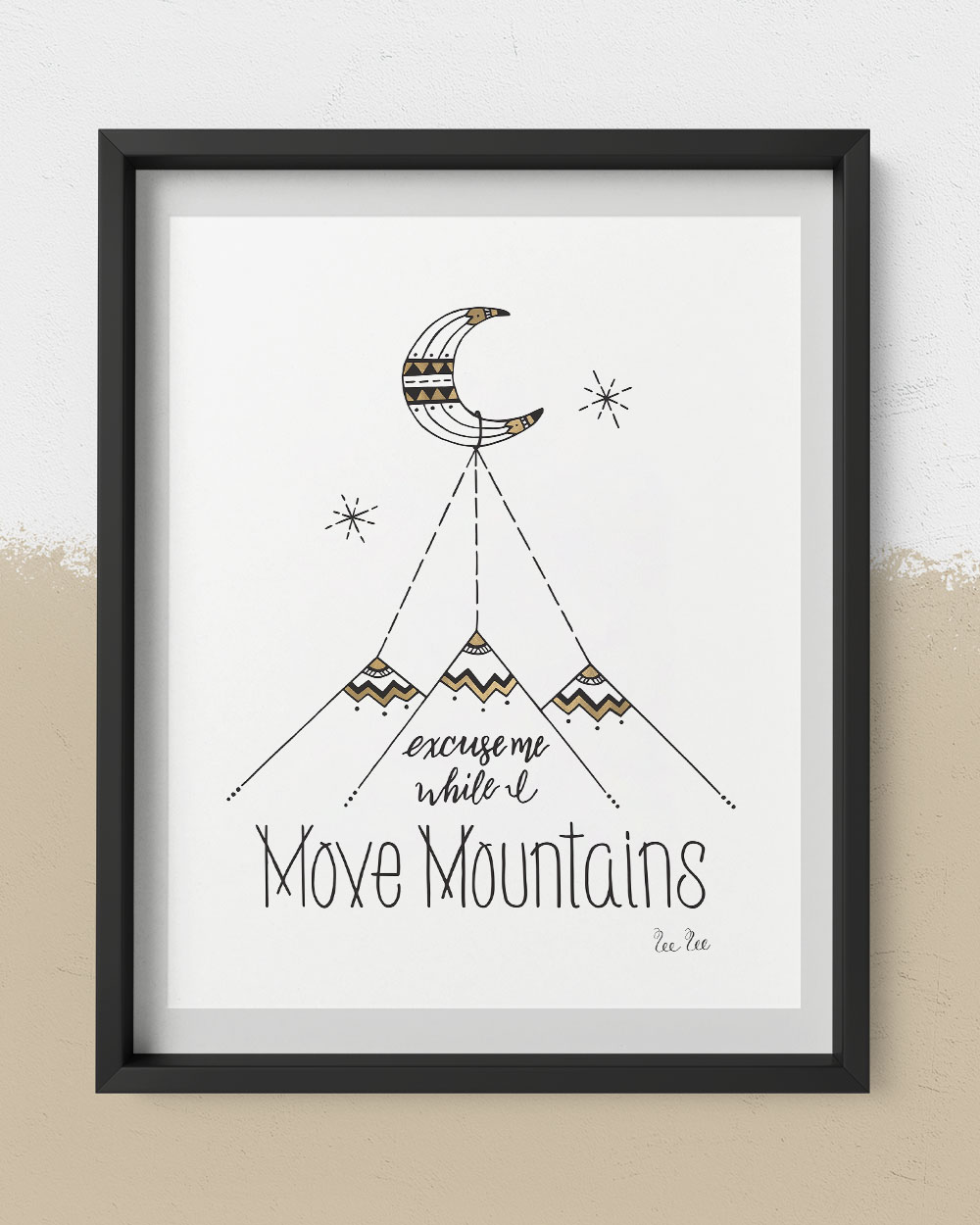 MoveMountains-12x16Print-18x14frame-Blac