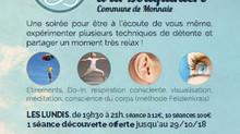"""Ateliers """"Lundi c'est Relax """" de la rentrée !"""