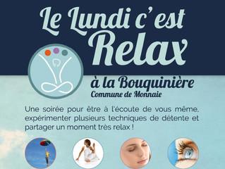 Les lundis c'est Relax reprennent à partir du 31 mai !!
