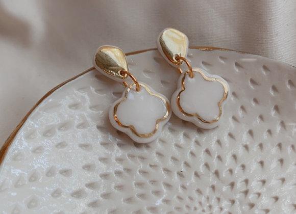 Earring Clover gold