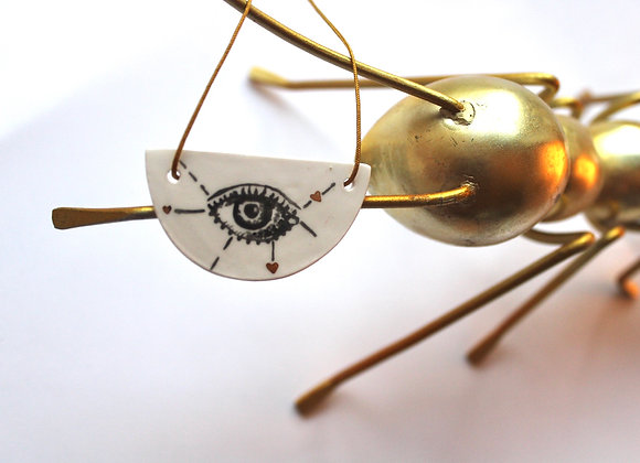 Necklace Heart Eye